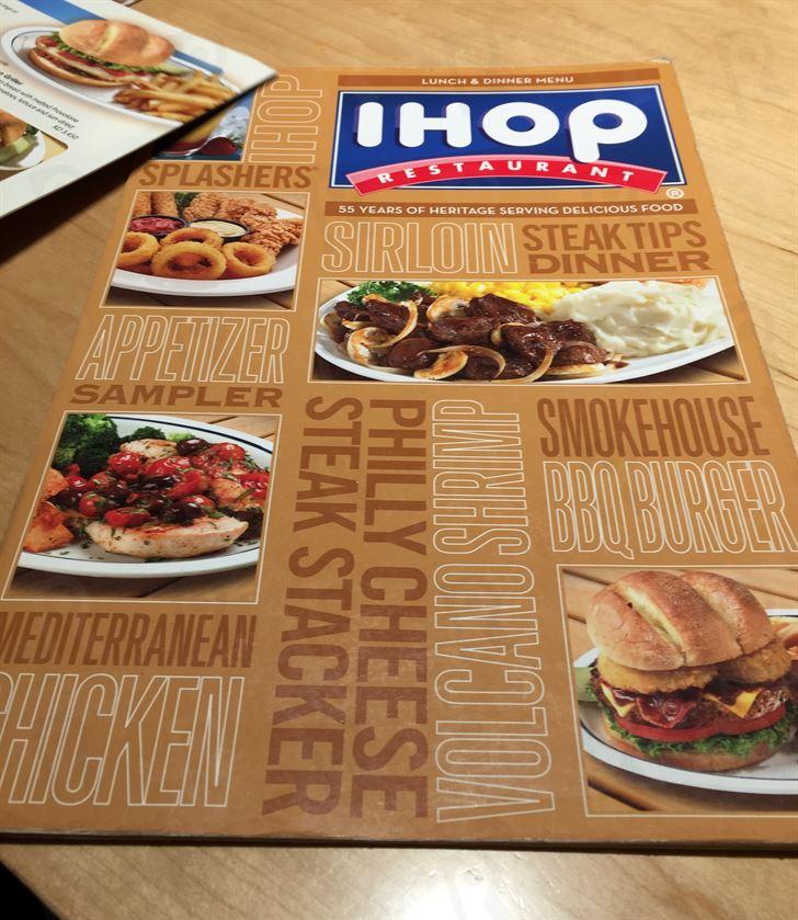 Our Dinner at IHop restaurant