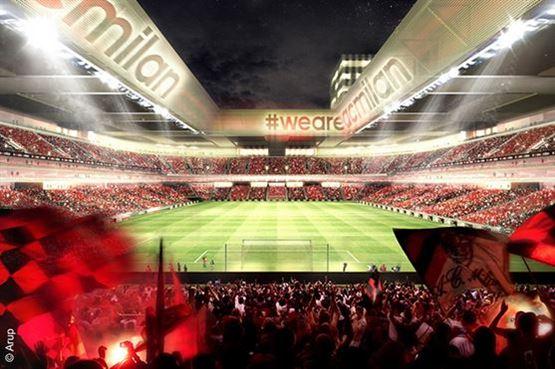 AC MILAN تكشف النقاب عن ملعبها الجديد