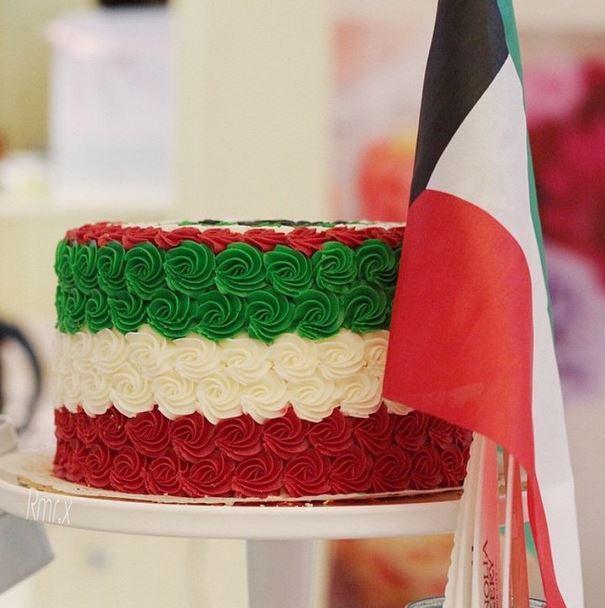 قوالب حلوى مميزة جدا من مخبز مغنوليا من اجواء الاعياد الوطنية
