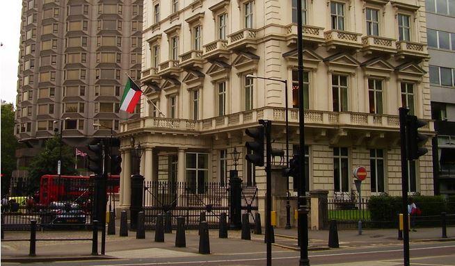 السفارة الكويتية في لندن - صورة مأخوذة من قِبل بارني جنكنس Barney Jenkins
