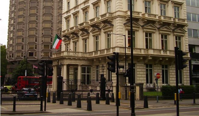 Kuwait's Embassy in London - Photo taken by Barney Jenkins