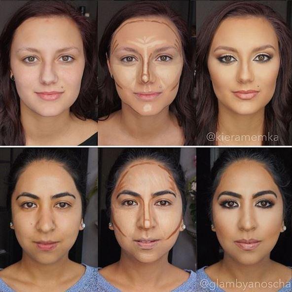 بالصور ... الوجه قبل وبعد استخدام تقنية الكونتورينغ الساحرة