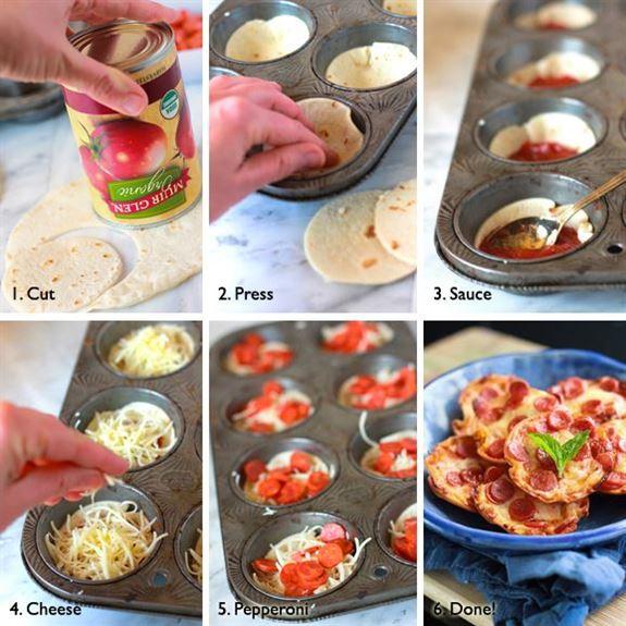 طريقة سهلة وسريعة لتحضير ميني بيتزا بخبز التورتيا