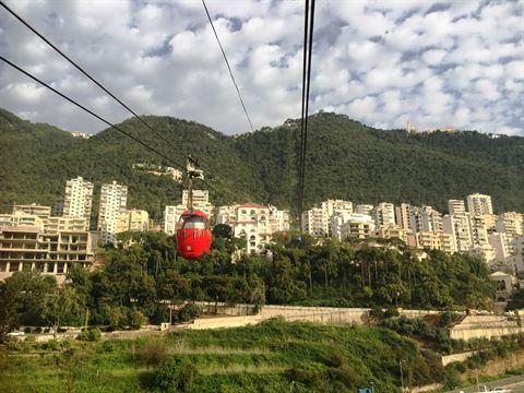 رحلتنا بالتلفريك الى حريصا - لبنان