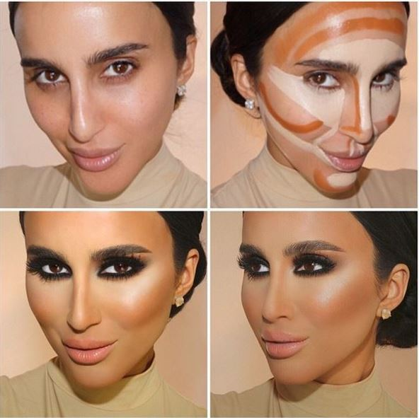 Before and after photos of Face Contouring