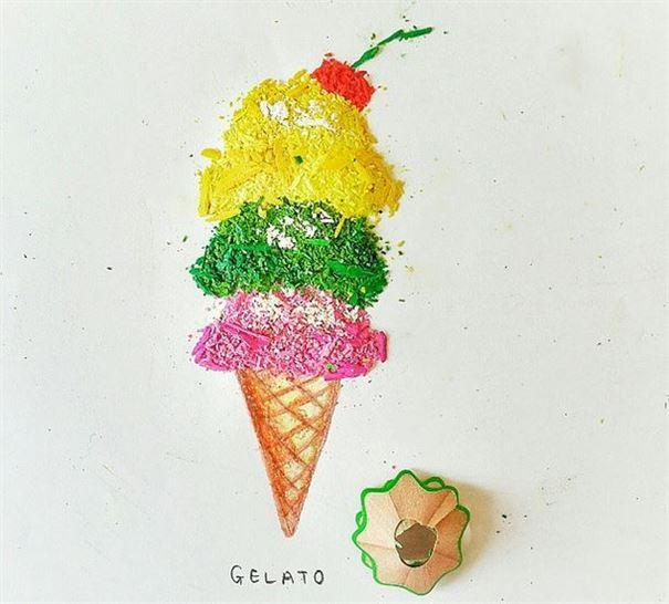 مثلجات جيلاتو