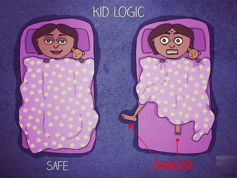 لا نشعر بالأمان اذا كانت أرجلنا خارج اللحاف أو غطاء السرير