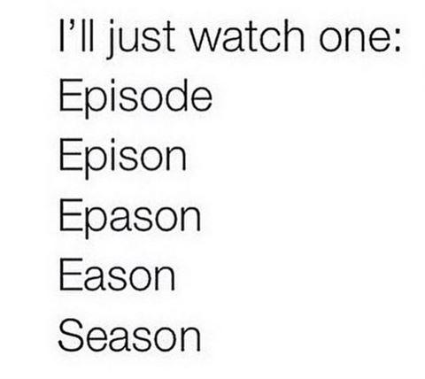 عندما يبدأ مسلسل، نشاهد الحلقة الاولى ونتعلق ونتابعه حتى الأخير