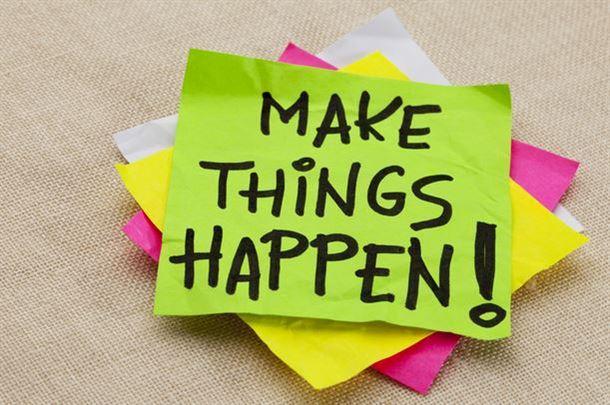 اجعل الأشياء تتحقق!