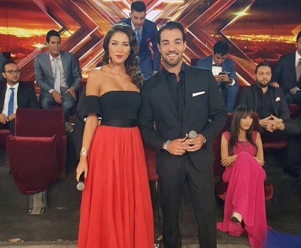 باسل الزارو ودانييلا رحمة وخلفهم المشتركين