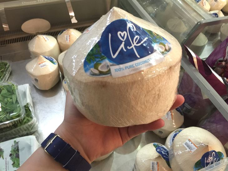 This coconut is a product of Thailand
