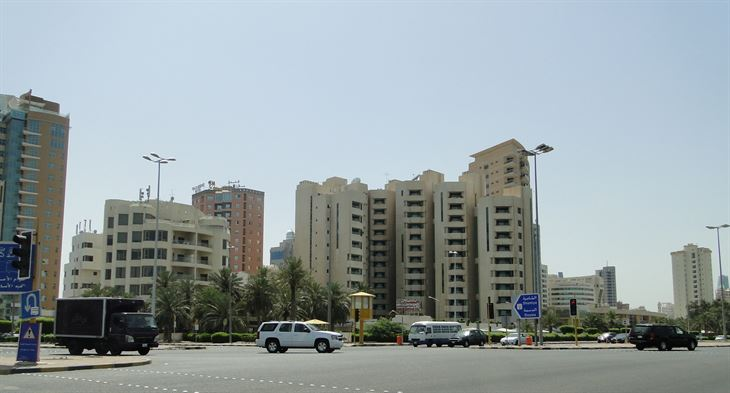 لقطة من شارع الخليج العربي، بداية شارع الحب (الدائري الثاني)