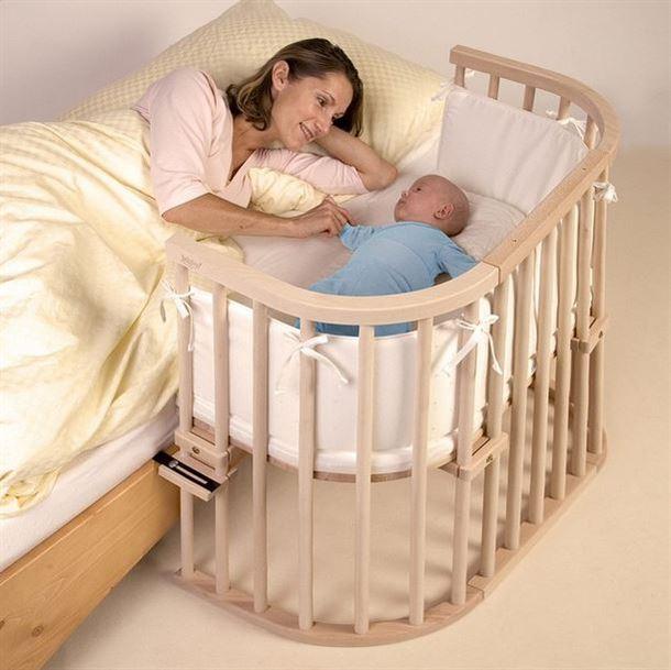اليكم السرير الرائع العملي والمريح للأم ولطفلها الرضيع