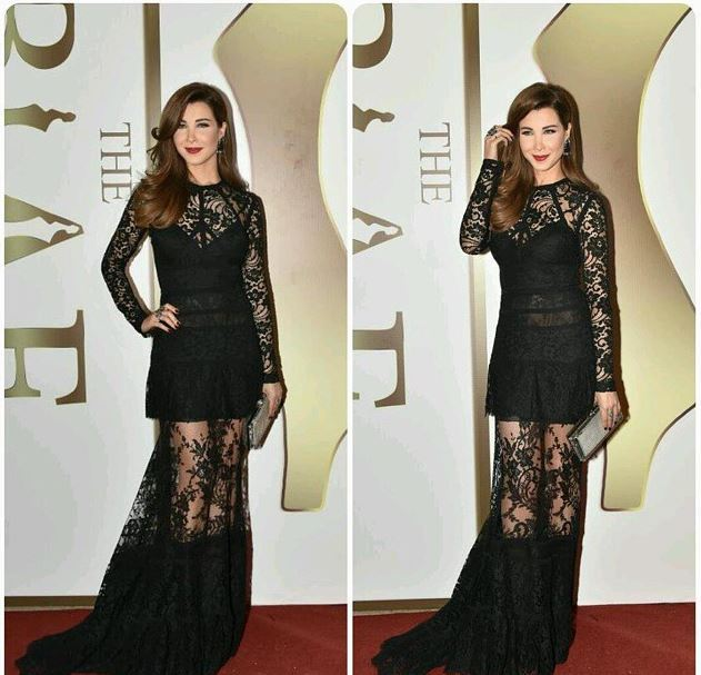 Nancy Ajram in a dress by Elie Saab