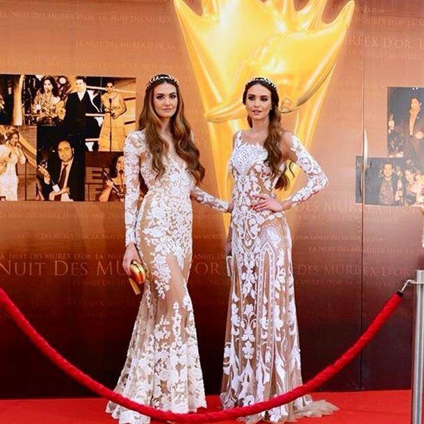 الأختان رينا ورومي شيباني في حفل الموريكس دور