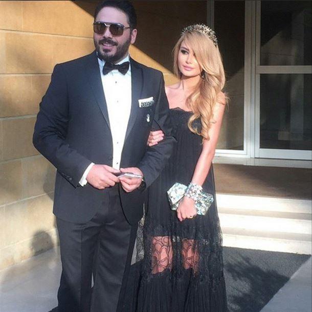داليدا عياش مع زوجها الفنان رامي عياش
