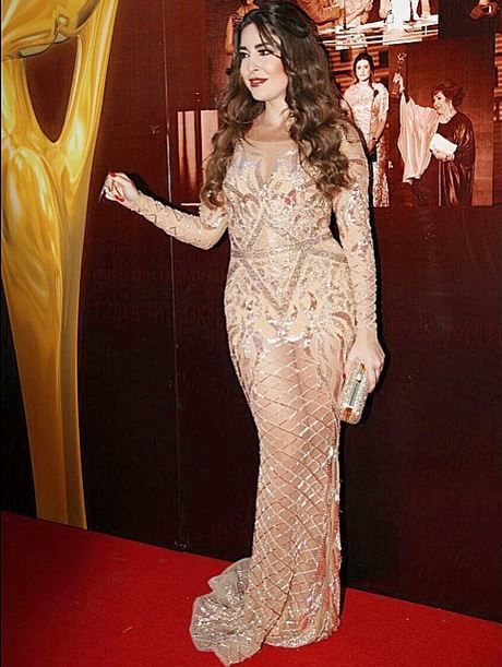 Lebanese actress Sara Abi Kanaan at the Murex D'or