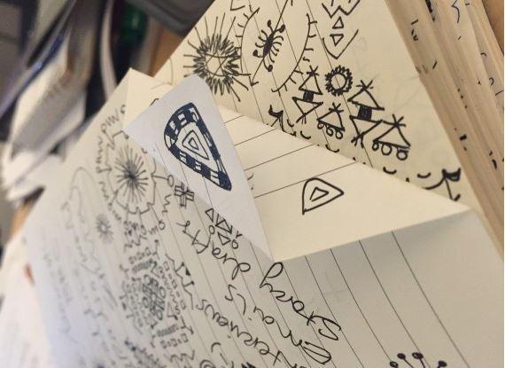 بعض الخربشات على الورق