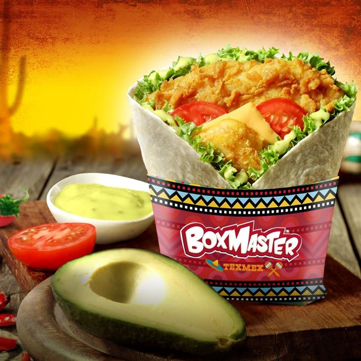 KFC Tex Mex Box Master Sandwich with Mexican taste