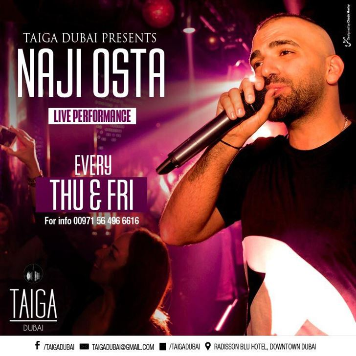 Meet Naji Osta in Taiga Dubai every Thursday and Friday