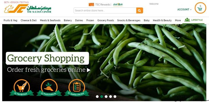 Sultan Center Online Groceries Shopping Website