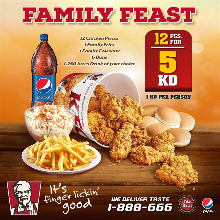 KFC Family Feast Offer :: Rinnoo.net Website
