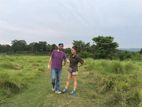 فؤاد يمين مع زوجته سيرينا الشامي