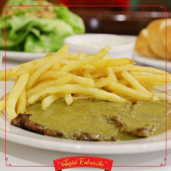 Entrecôte Steak and Fries dish