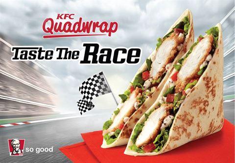 KFC New Quad Wrap meal