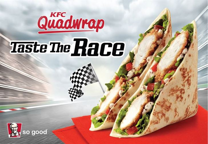 KFC New Quad Wrap meal