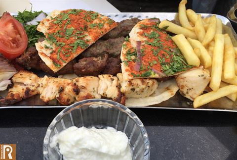 Grilled meat, Kabab, Shish Taouk and french fries