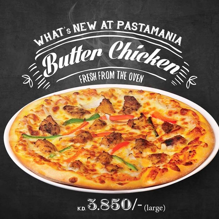 New at Pastamania ... Butter Chicken Pizza