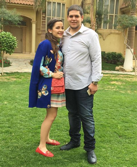 Photos .. Sham AlZahabi with her husband