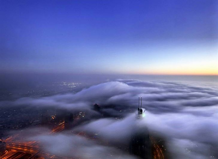 Amazing Shot from At the top of Burj Khalifa