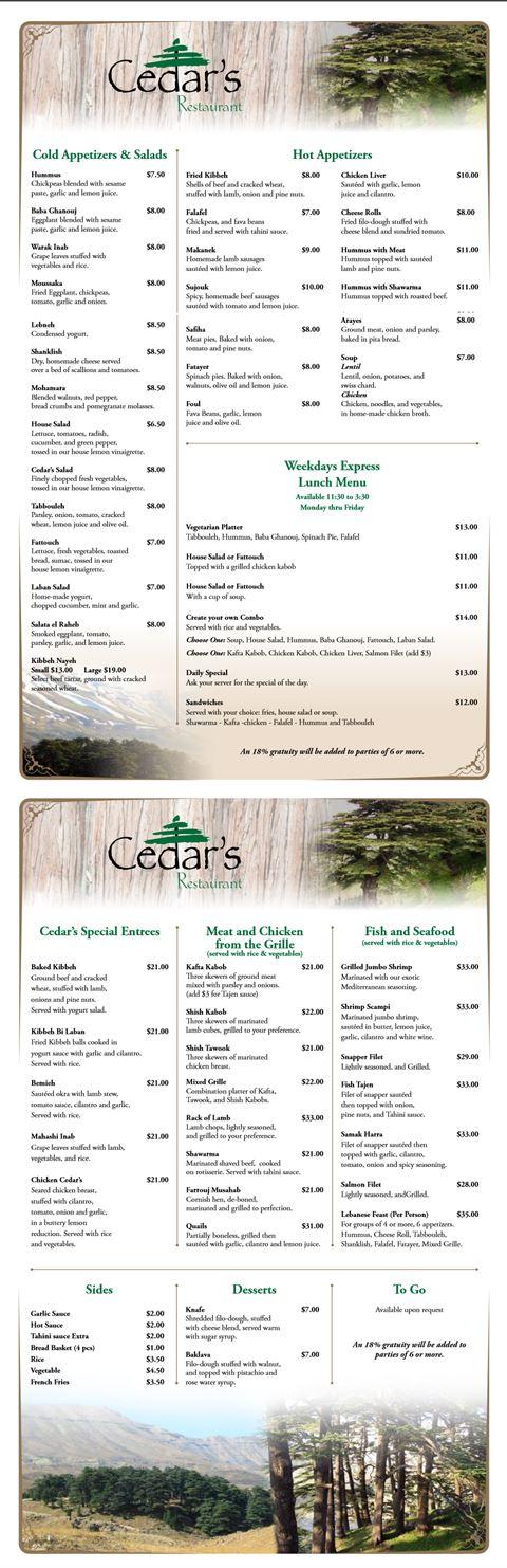 Cedar's ... Lebanese Restaurant in Orlando Florida