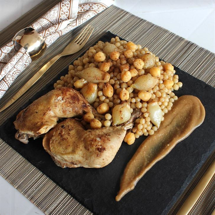 Moghrabiyye with Chicken