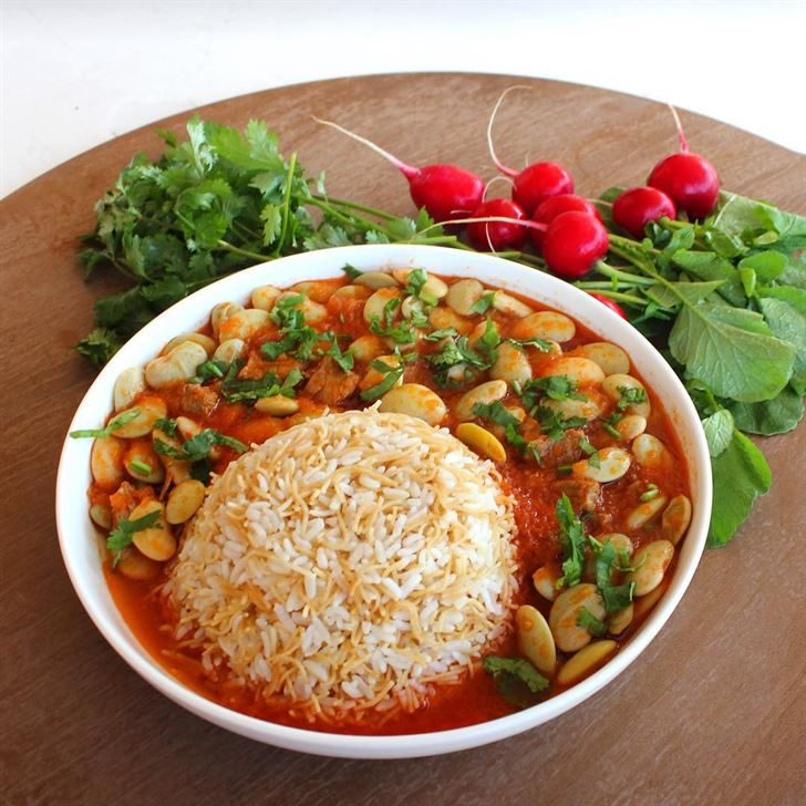 Fasoulya Stew with Rice