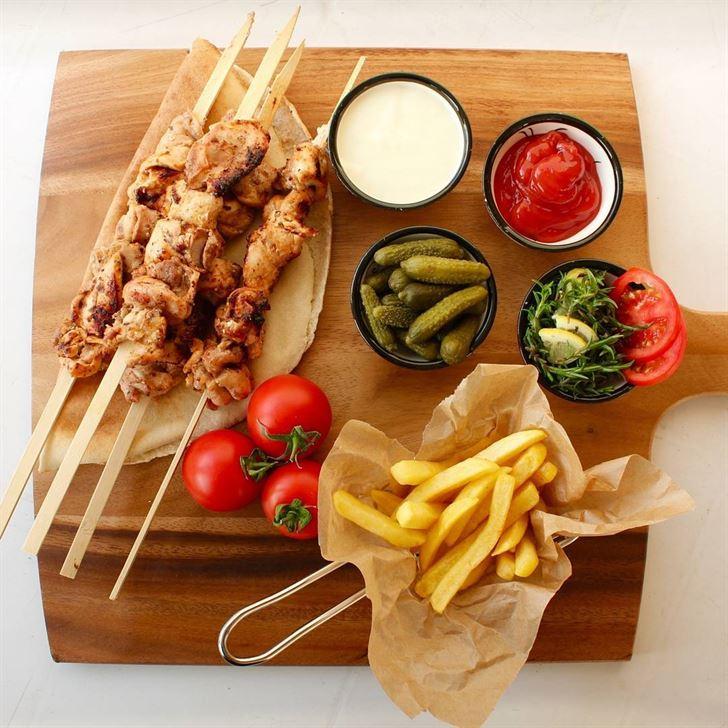 Shish Taouk complete dish