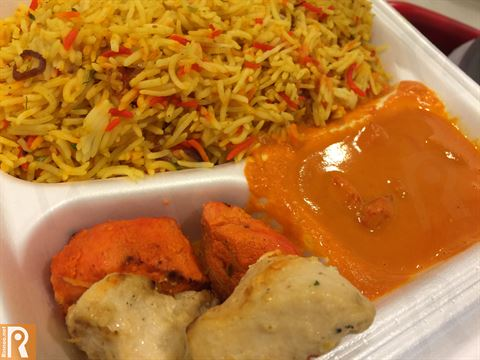 Butter Chicken, Rice and Grilled Taouk