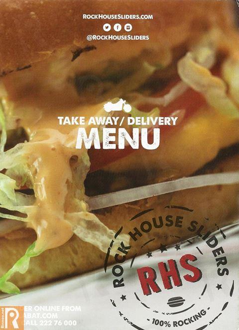 Rock House Sliders Restaurant Delivery Menu