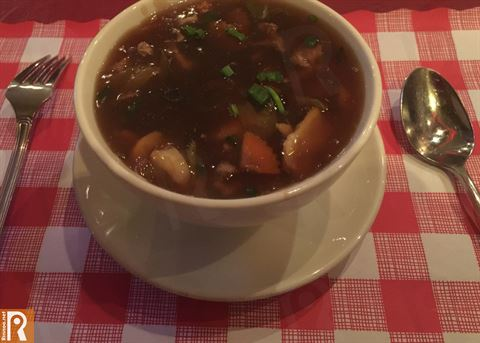 Special soup with meat, chicken and seafood