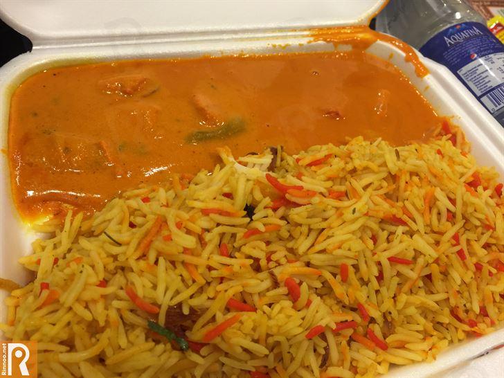 البتر تشيكن مع الأرزّ الهندي الملوّن