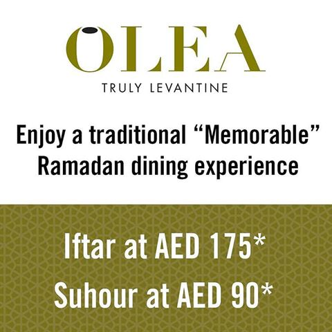 Olea Restaurant Ramadan 2016 Offer