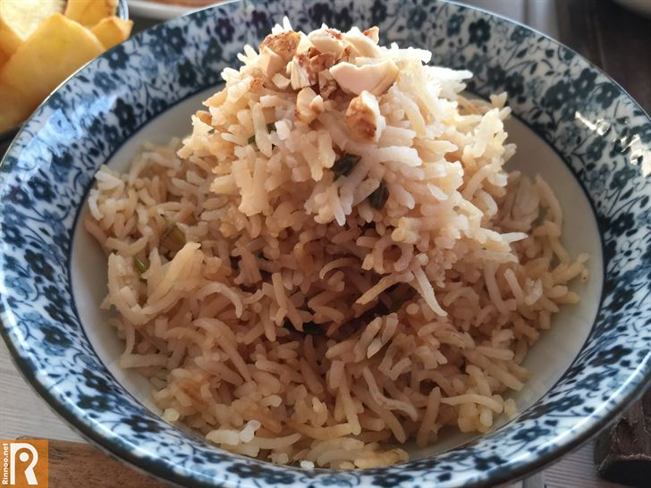 Rice served with the Thai Chicken