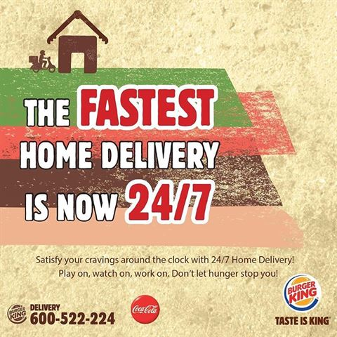Burger King UAE Delivery Service is now 24 hours