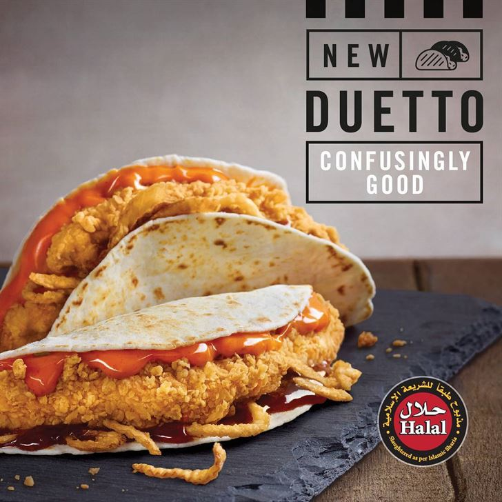 KFC New Dueto Sandwich Meal