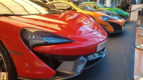 Three different editions of the latest McLaren automotives