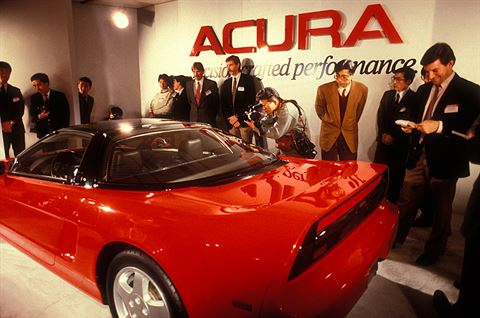 Acura NSX Debut in The Chicago Auto Show, February 1989.