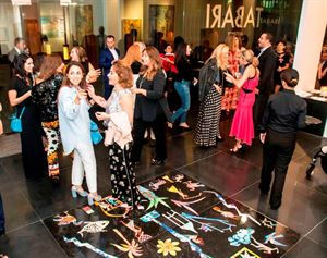 Attendees at the opening of Tabari Artspace