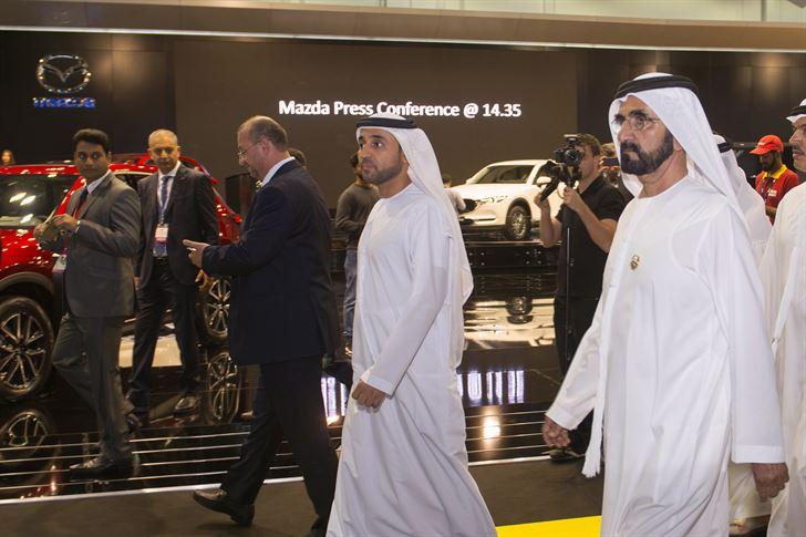 Sheikh Mohammad Bin Rashed near Mazda Stage